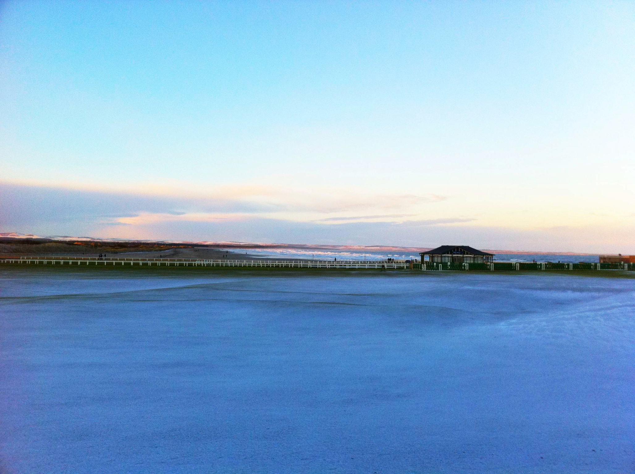 Last Week's Snow over the Old Course out to the West Sands